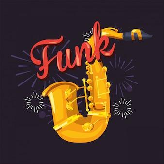 Funk i instrument saksofonowy