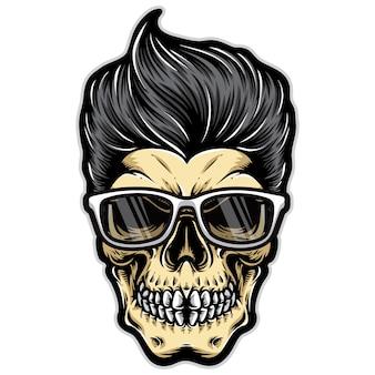 Funky czaszka rockabilly