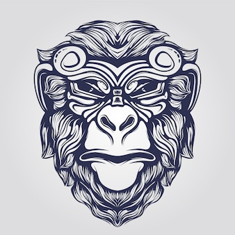 Funky małpia twarz
