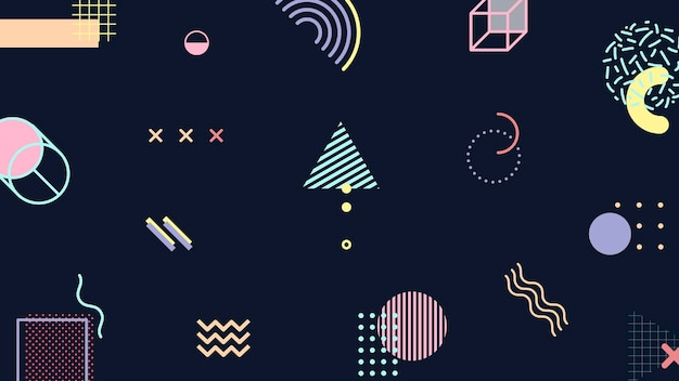 Funky tone szablon banera blogu memphis
