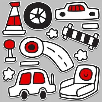 Funny car doodle design