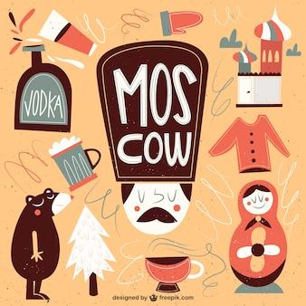 Funny moskwa ilustracja
