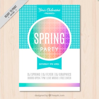 Funny spring party plakat