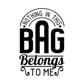 Funny tote bag cytaty projekt napis wektor
