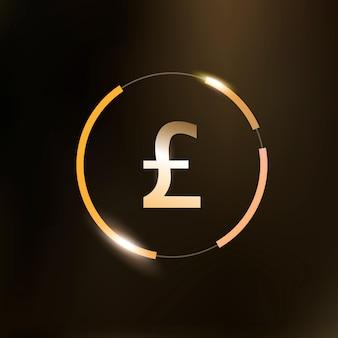 Funt brytyjski ikona pieniądze symbol waluty