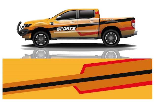 Furgonetka opakunku samochodowa ilustracja