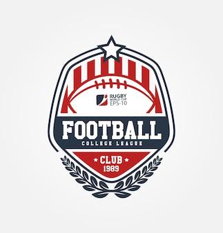 Futbol amerykański club logo sport design