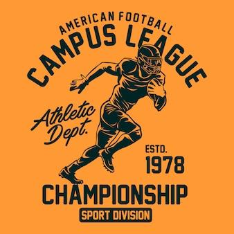 Futbol amerykański do druku graficznego
