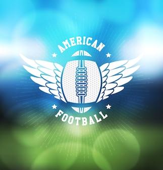 Futbol amerykański logo sport