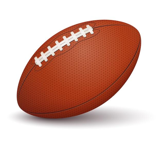 Futbol amerykański piłka na białym tle
