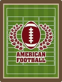 Futbol amerykański projekt nad boiska tłem