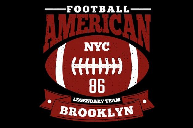 Futbol amerykański styl vintage na brooklynie