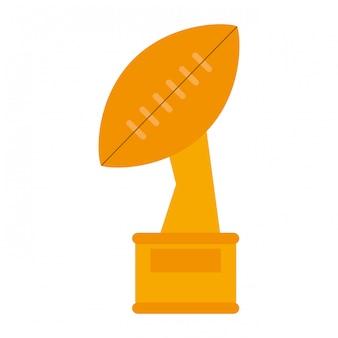 Futbol amerykański trofeum puchar