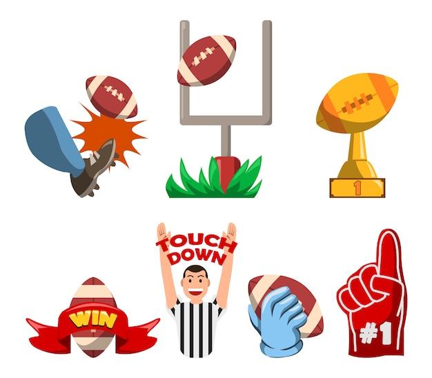 Futbol amerykański wygrywający fancy badge