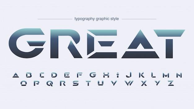 Futuristic sharp edges sports typography