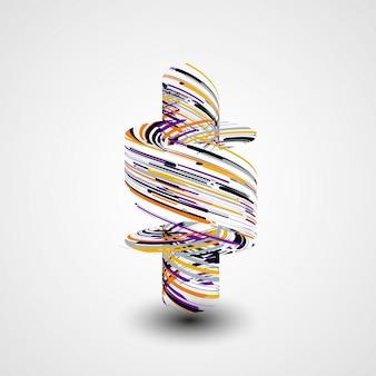 Futurystyczna abstrakcjonistyczna kształt ilustracja