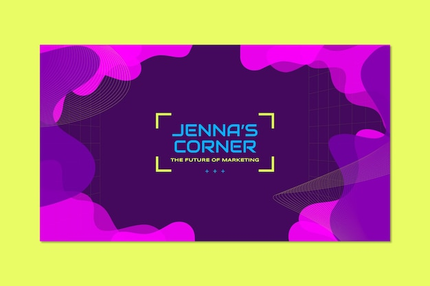 Futurystyczna, abstrakcyjna, marketingowa grafika kanału jenna na kanale youtube