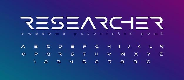 Futurystyczna czcionka litery alfabetu przyszłe logo typografia kreatywny minimalistyczny projekt typograficzny