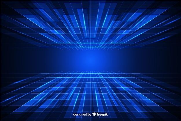 Futurystyczna horyzont tle cyberprzestrzeni
