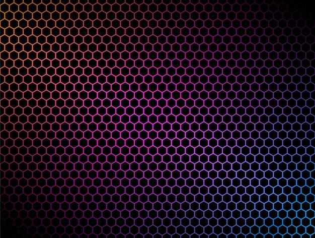 Futurystyczna ilustracja sześciokąt. futurystyczna ilustracja sześciokąt. element hud. koncepcja technologii. krajobraz 3d. big data.