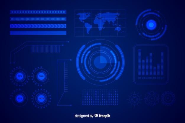 Futurystyczna kolekcja elementów infograficznych
