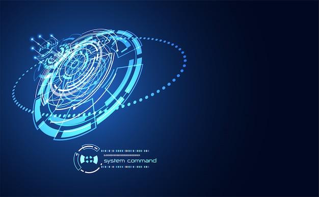 Futurystyczna komunikacja abstrakcyjna technologia ui