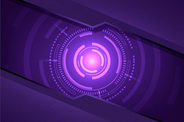 Futurystyczna koncepcja tło innowacji