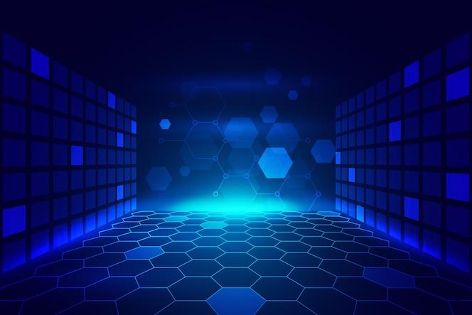Futurystyczna koncepcja tło