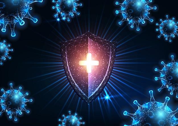 Futurystyczna ochrona układu odpornościowego przed zakaźną chorobą koronawirusa covid-19