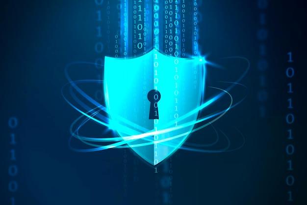 Futurystyczna ochrona zamka tarczy