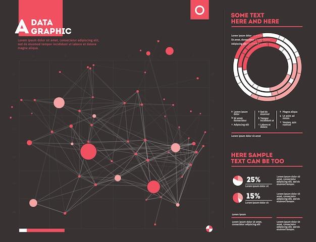 Futurystyczna plansza. estetyka informacji. graficzna wizualizacja złożonych wątków danych. abstrakcyjny wykres danych.