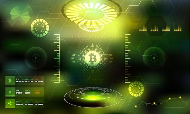 Futurystyczna platforma wymiany kryptowalut.
