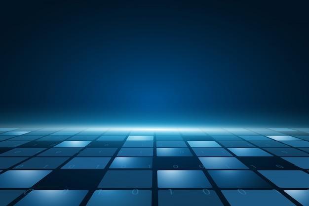 Futurystyczna płytka drukowana, elektroniczna płyta główna, koncepcja komunikacji i inżynierii, koncepcja technologii cyfrowej hi-tech