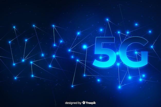 Futurystyczna technologia 5g w tle