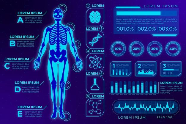 Futurystyczna technologia infographic medyczne