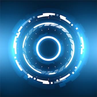 Futurystyczna technologia streszczenie tło krąg.