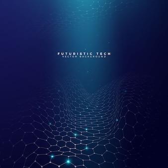 Futurystyczna technologii siatka z światła tłem