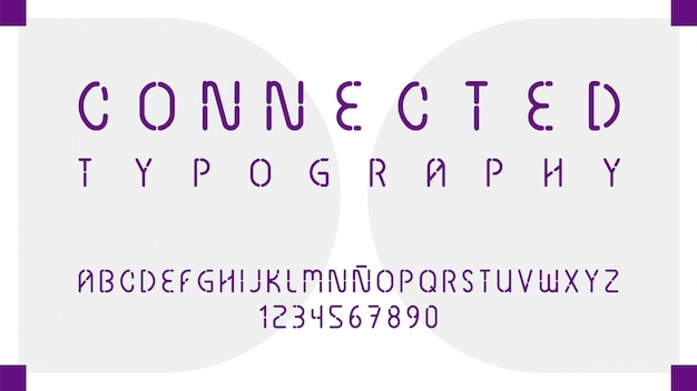 Futurystyczna typografia z literami i cyframi