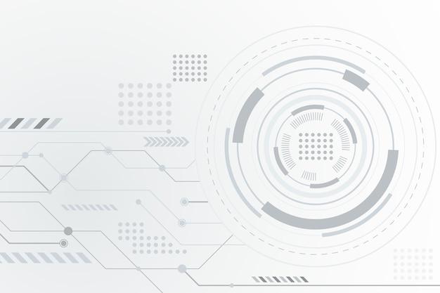 Futurystyczne białe tło technologii