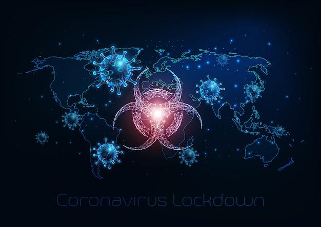 Futurystyczne globalne zagrożenie biologiczne spowodowane chorobą koronawirusa covid-19