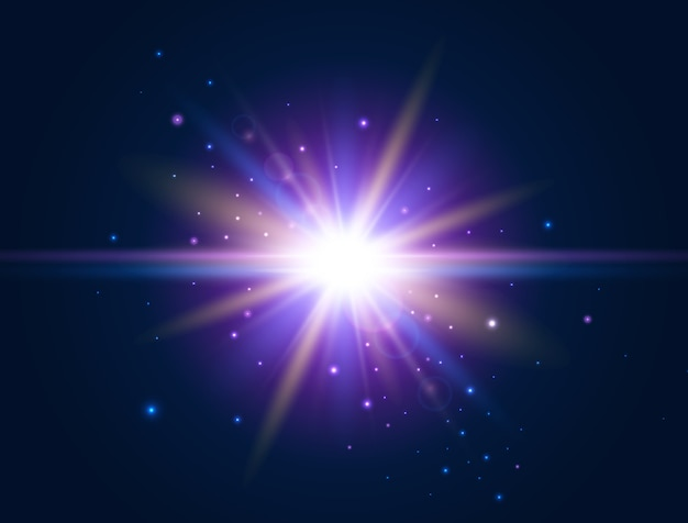 Futurystyczne światło efekt świecenia