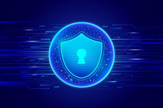 Futurystyczne tło bezpieczeństwa cybernetycznego