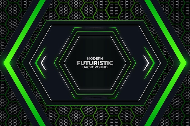 Futurystyczne tło ciemne i zielone