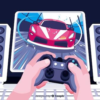 Futurystyczne tło gracza komputerowego