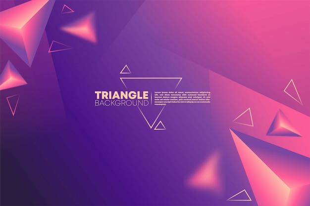 Futurystyczne tło gradientowe z ornamentem trójkąta