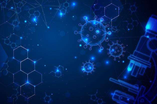 Futurystyczne tło laboratorium naukowe
