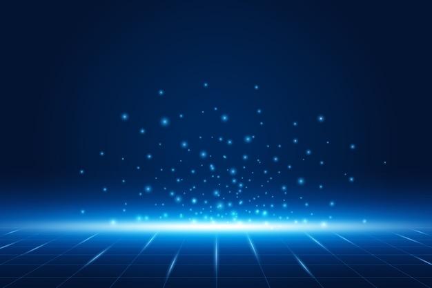 Futurystyczne tło technologii elektroniczna płyta główna koncepcja komunikacji i inżynierii