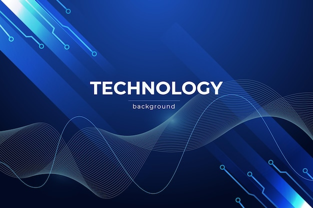 Futurystyczne tło technologii gradientowej