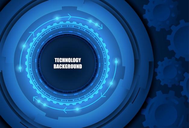 Futurystyczne tło technologii.