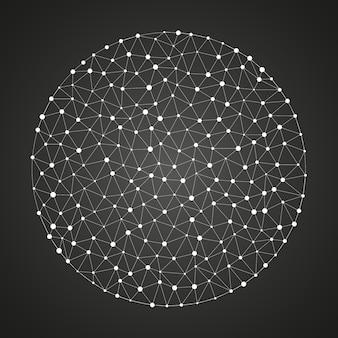 Futurystyczne tło z cząsteczkami lub strukturą